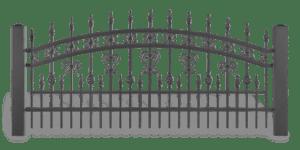 AW 10 39 lux wisniowski 300x150 - Przęsła ogrodzeniowe
