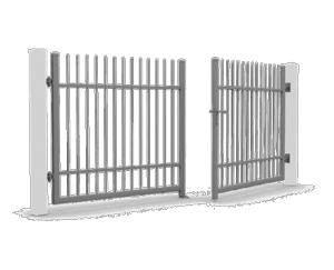 brama skrzydlowa reczna 1 300x243 - Ogrodzenia